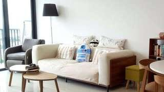 Solid wood sofa (3 seater)