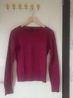 H&m sweater magenta