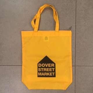Dover Street Market dsm yellow tote bag cdg comme des garcons