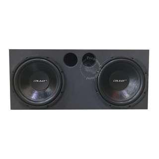 CALIBER (CPW-38) 12'' HIGH POWER SUBWOOFER (500WATTS) WITH 12'' x 2 BOX