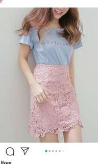 pink lacey skirt
