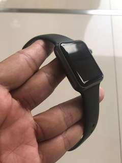 iwatch gen 1 black grey lengkap komplit 42mm