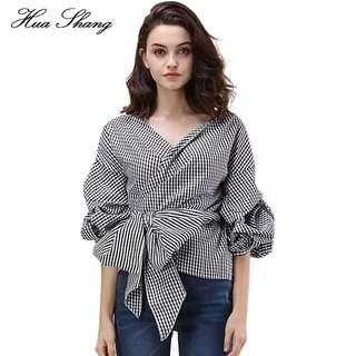 No brand wrap blouse