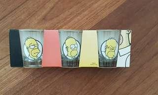 Brand new Simpsons shot glass (set of 3) Homer