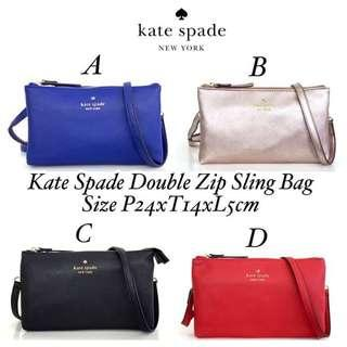 Kate Spade Double Zip SlingBag