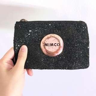 MIMCO BLACK SPARKLY POUCH