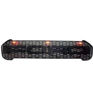 FORD RANGER 2018 (FRF-153) FRONT GRILLE V1 2.0 XLT BLACK WORDING WITH 3 YELLOW LED