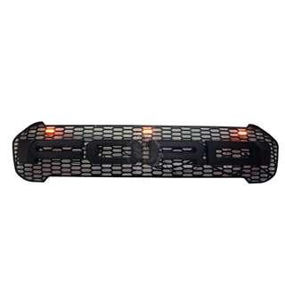 FORD RANGER 2018 (FRF-161) FRONT GRILLE V1 2.2 XLT BLACK WORDING WITH 3 YELLOW LED