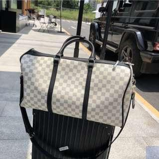 🚚 Monogram Checkered Duffel Bag Shoulder Bag
