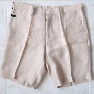 🚚 Prada Logo Luxury Linen Shorts