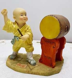 Cute Little Monk Figurine Display