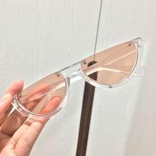 Kacamata 1/2 lensa peach