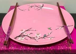 Yu Sheng Plate with 2 Pairs of Chopsticks