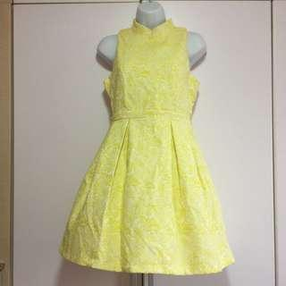 CNY Yellow Cheongsam Dress