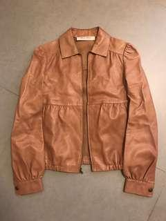 Leather Jacket nude color