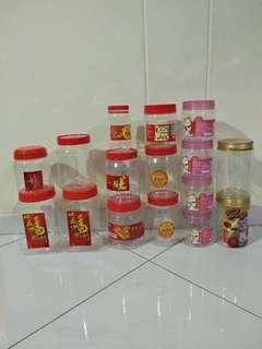 16 x red cover plastic container - cny