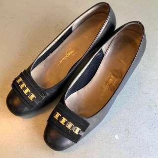 Salvatore Ferragamo Heels 復古 低跟鞋