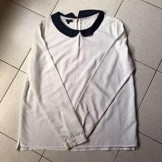 Mossimo White Long Sleeved Blouse