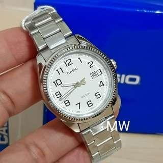 Casio original ladies classic stainless steel numbering watch ltp1302d brand new