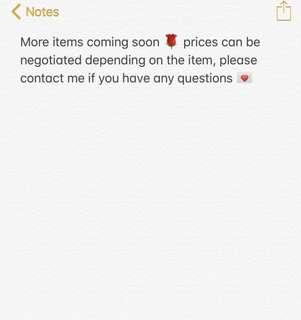 More items listed soon 🌹