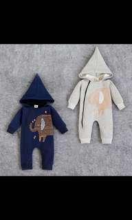 Toddler 1-Piece Jumper with Hood / Baby Romper / Kids Clothing / Pyjamas / Kids Set / Hoodie / Jacket / Long Sleeve