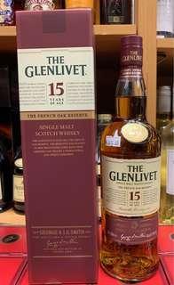 格蘭利威15年威士忌70cl