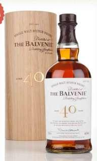 Balvenie Whisky 40 yrs