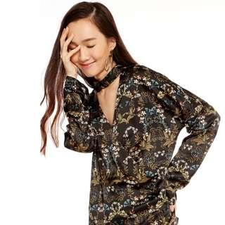 Pomelo Fashion Landale Floral Choker Top