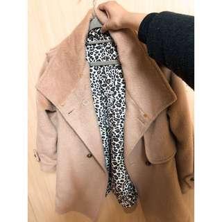 🚚 厚毛斗蓬豹紋內襯外套