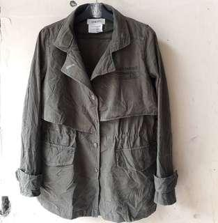 Jaket Canvas Casual Parka Military style