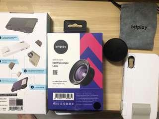 Bitplay iphone X case and wide angle lens