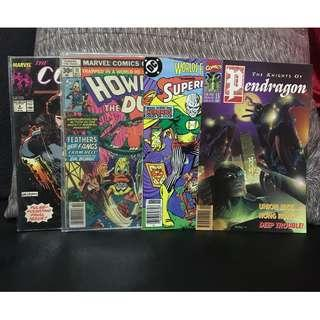 MARVEL Howard the Duck, Comet Man, Knights of The Pendragon, and DC Superman & Batman Comics Lot