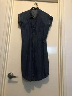 Denim dress sz 8