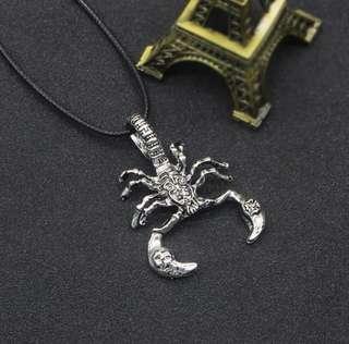 🚚 [ High Positive Rating ] Scorpion King Neckace The Rock New Fashion Vintage Titanium Steel Scorpion Pendant Necklace 88