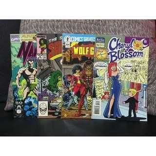 MARVEL Namor Annual, She-Hulk, Archie Cheryl Blossom, Dark Horse Wolf Gang Comic Books Lot