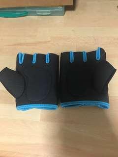 Blue training gloves
