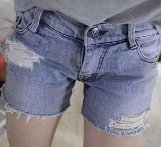 Ripped Denim Shorts #onlinesale