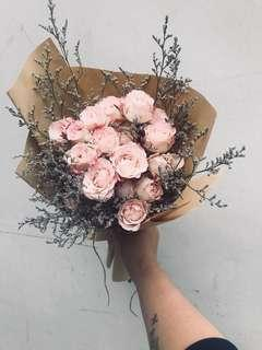 Rose spray bouquet