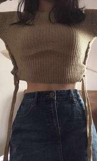 cropped long sleeve colorbox