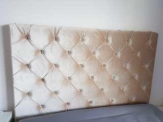 Upholstered padded headboard
