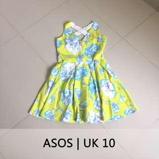 #prelovedwithlove ASOS Dress Floral Flare V-Neck Cocok dipadukan dengan Turtle Neck atau Kaos