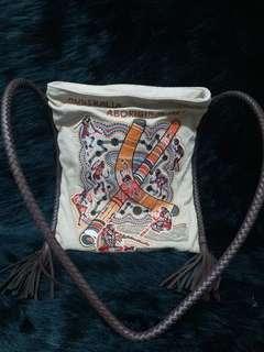 人手刺繡側孭袋《購自日本》/可作換物