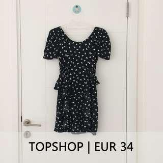 #prelovedwithlove TOPSHOP Little Black Dress Backless with Ruffle Details