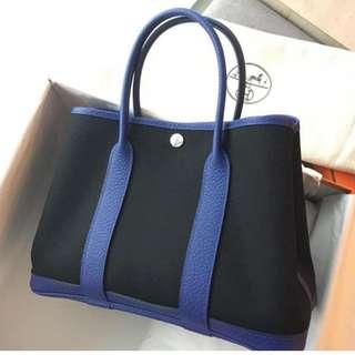 5bca6ca68f Hermes Garden Party 30 in Bleu electric - black