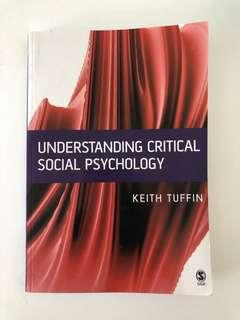 Understanding Critical Social Psychology - Uni Text book (FREE Postage!)
