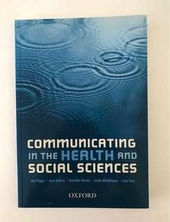Communicating in the health and social sciences - uni textbook (FREE postage!)