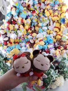 日本Disney迪士尼公仔兩隻-米奇&米妮