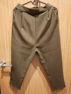 Military green pants