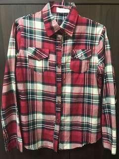 🚚 格子襯衫(紅)