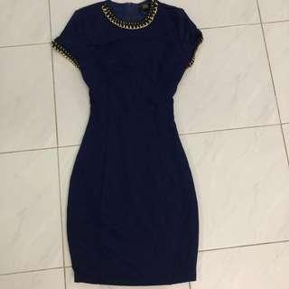 Lara J Navy Blue Dress